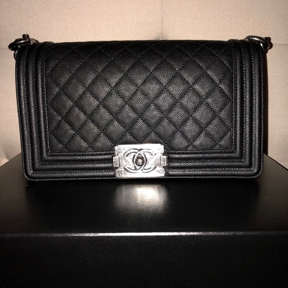 5d087c3eaeaa CHANEL Bags | Old Medium Black Caviar Boy Bag | Poshmark